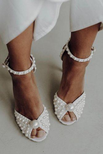 beach wedding shoes white with heels and pearls jimmychoo