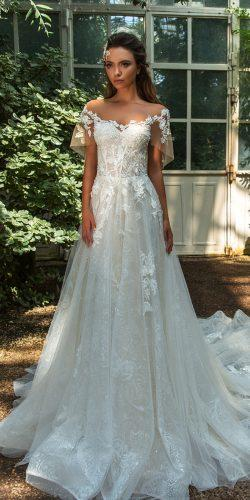 crystal design 2018 wedding dresses a line lace sweetheart neckline with sleeves trendy style diem