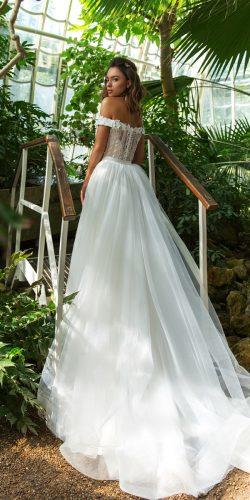 crystal design 2018 wedding dresses a line off the shoulder lace style claudia