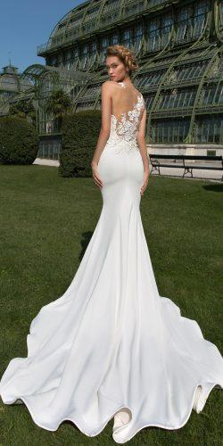 crystal design 2018 wedding dresses mermaid sleeveless lace backless style keren