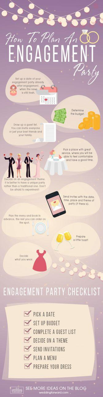 how to plan an engagement party infographic