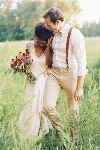 mens wedding attire rustic pastel pants t shirt suspenders with bowtie ali harper