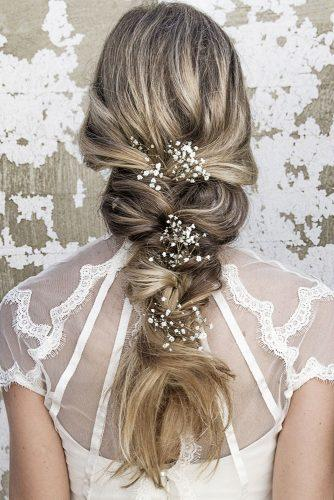 rustic wedding hairstyles loose cascading braid brides_by_vanessa_jane via instagram
