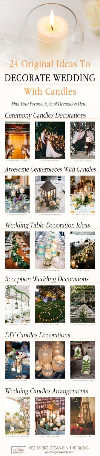 wedding decor ideas 24 original ideas to decorate wedding with candles