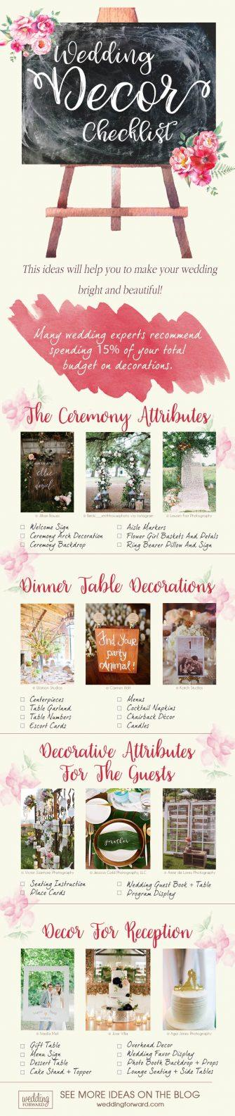 wedding decor ideas wedding decor checklist