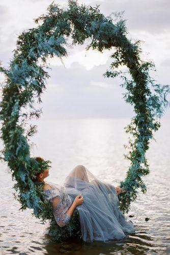 wedding flower wreath romantic shot of bride-in-water muravnik photography's