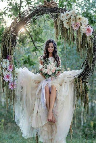 wedding flower wreath romantic-swing in the forest ilyinaolga