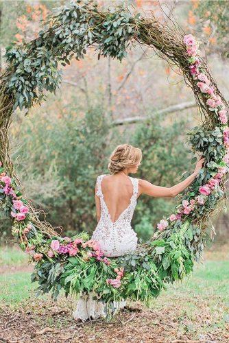 wedding flower wreath romantic swings jeremychouphotography