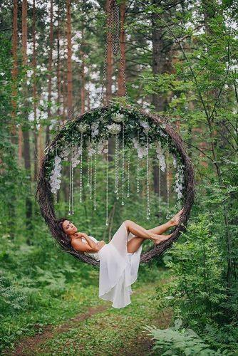wedding flower wreath swings-in the forest alexandragera
