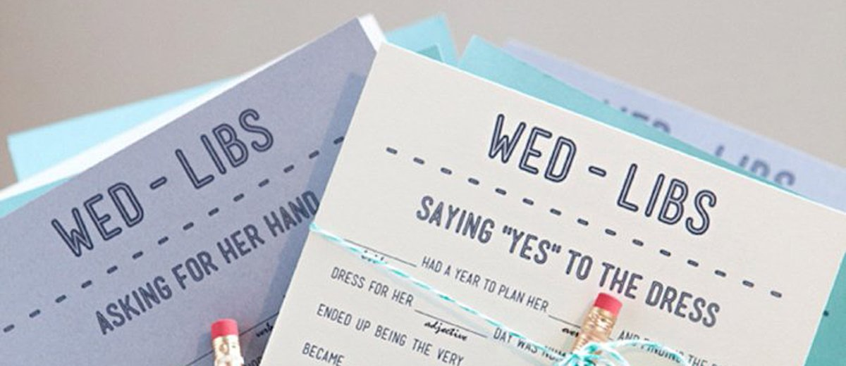wedding mad libs table game