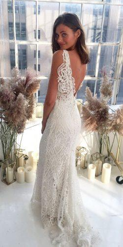 anna campbell 2018 wedding dresses sheath with train lace low back backless kira