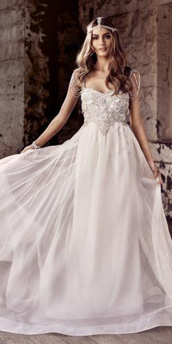 anna campbell sheath embellishment bodice hand beaded shoulder loops sweetheart neck wedding dresses chloe