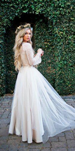 beautiful modest wedding dresses straight lace long sleeves high neckline bliss tulle