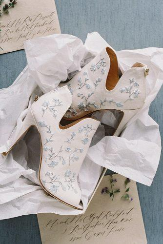 bridal booties floral ornament with open tor wedding shoes trends bella belle peony