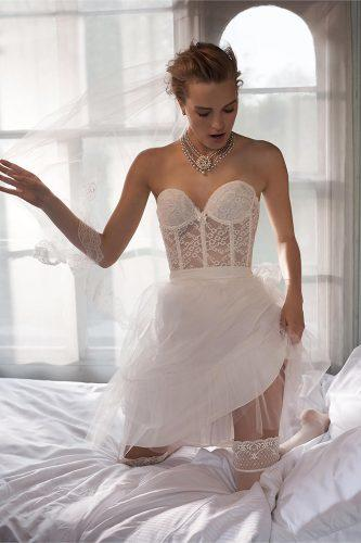 bridal lingerie white corset with dress bhldn