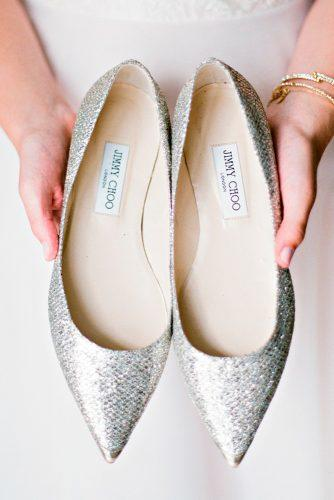 comfortable trendy sparkle silver flats wedding shoes lindsay madden