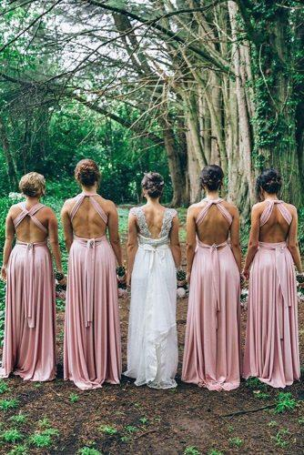 convertible bridesmaid dresses open backless straight blush sleeveless goddess by nature