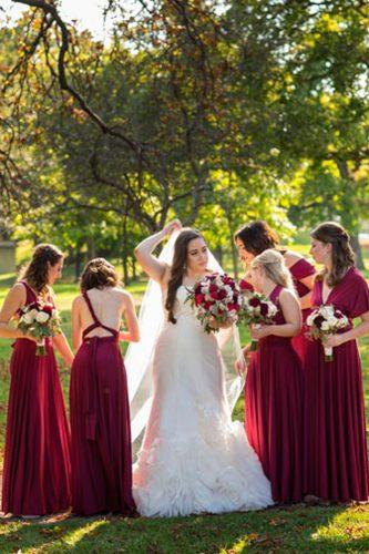 convertible bridesmaid dresses red straight modern sleeveless henkaa