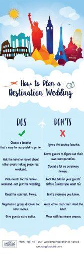 destination weddings infographic planning tips