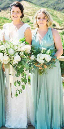 green bridesmaid dresses long mint two birds