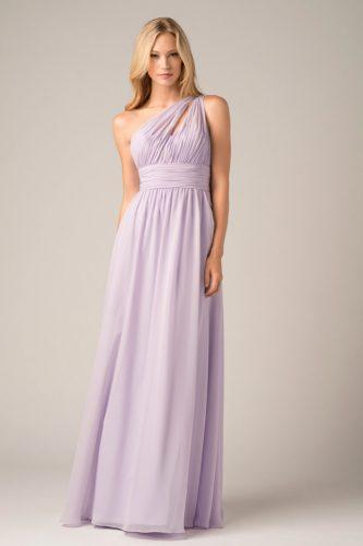 lavender long straight one shoulder empire waist convertible bridesmaid dresses wtoo