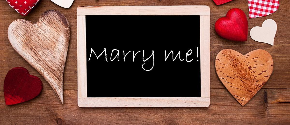 marriage quotes marry me hearts card