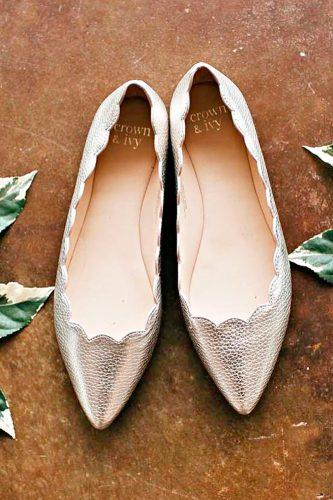 silver flats wedding shoes sparkle trendy modern bjmatthews09
