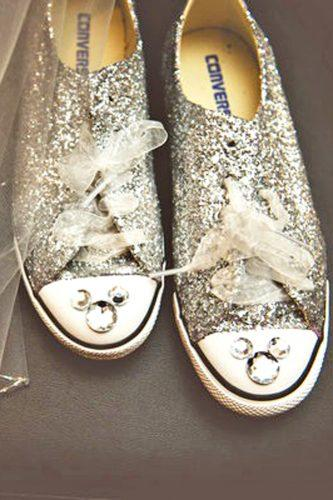 silver wedding shoes comfortable sneakers with rhinestones bg productions