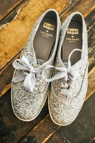 silver wedding shoes sneakers sparkle comfortable studio 29