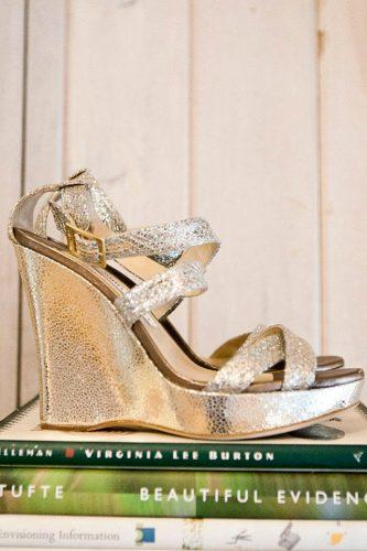silver wedge ankle straps comfortable wedding shoes llanes