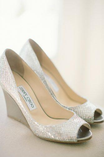 silver wedge wedding shoes sparkle comfortable stylish jenny moloney