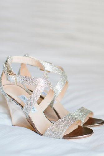 silver wedge wedding shoes strappy sparkle trendy stylish marianne wilson photography