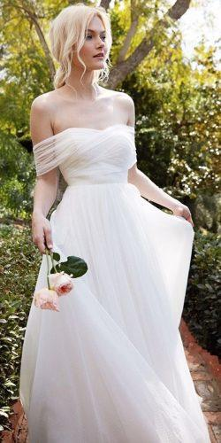 simple a line of the shoulder sweetheart neck beautiful wedding dresses jenny yoo nyc