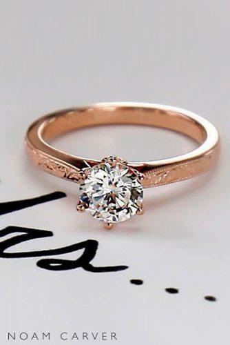 top engagement ring ideas rose gold 18k diamonds solitaire