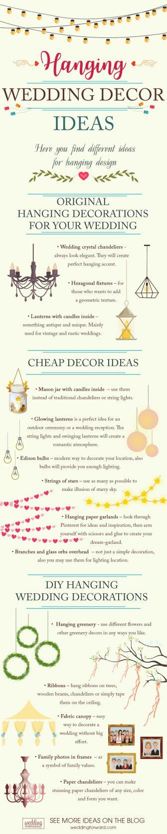 wedding decor ideas hanging wedding decor ieas