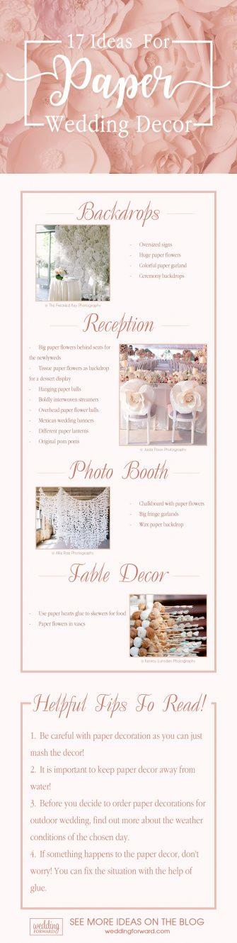 wedding decor ideas paper wedding decor
