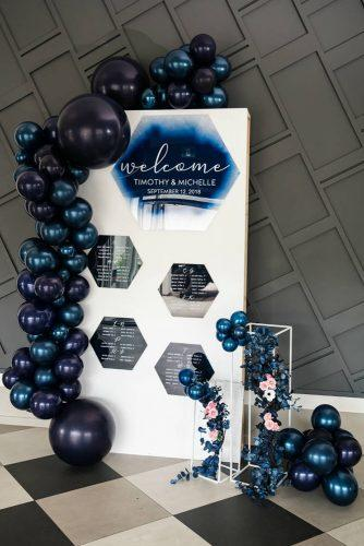 wedding ideas amazing blue ballons decorate welcome signs big fish photography