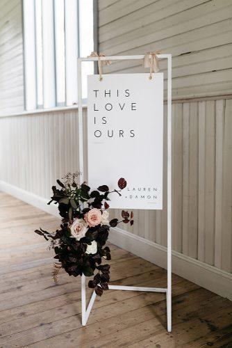 wedding ideas minimalist welcome wedding sign with roses ali bailey