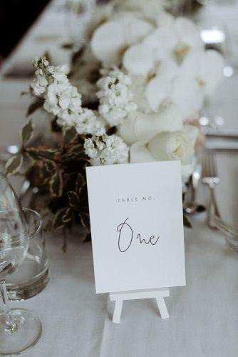 wedding ideas tiny white minimalist easel table number whiteinkdesignco