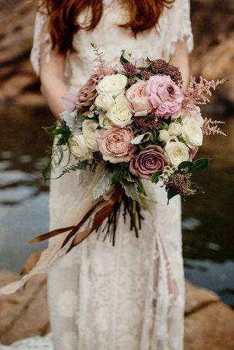 wedding ideas volume blush bouquet with grass and pink flower roses images fiona vail photography