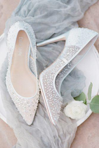 wedding shoes trends white high heels bling hand beaded illusion bella belle 2018 elsa blue