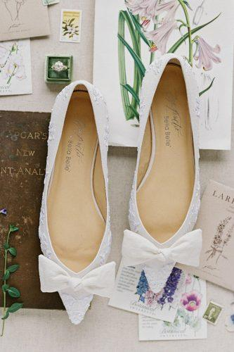 white embroidery flats with bows wedding shoes trends bella belle lavender