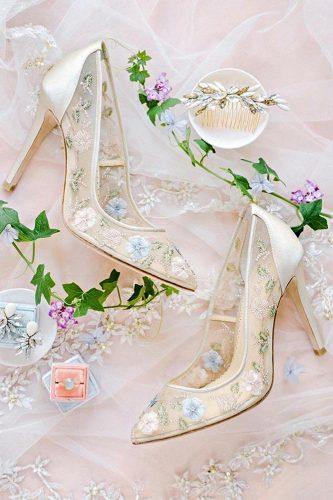 2018 illusion with floral ornament high heels wedding shoes trends bella belle chloe