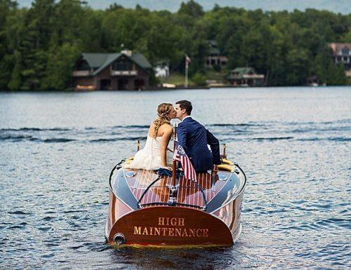 american wedding traditions newlyweds couple on the boat