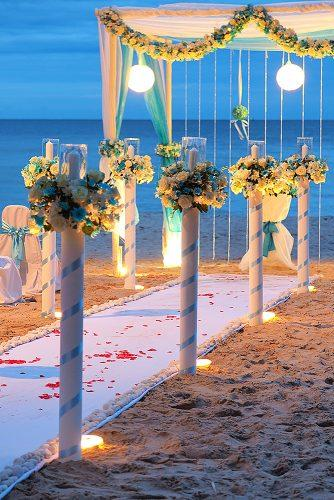 beach wedding floral decor lighting decorations
