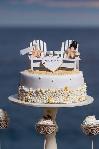 beach wedding funny wedding cake decor