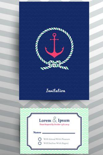 beach wedding sea themed invitations