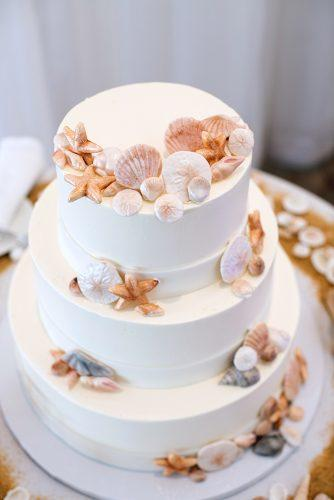 beach wedding sea themed wedding cake