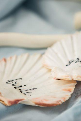 beach wedding shell table decor