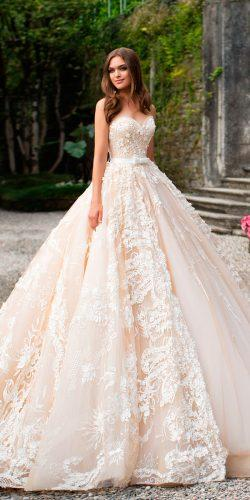 blush ball gown strapless sweetheart neck lace milla nova wedding dresses 2017 savanna